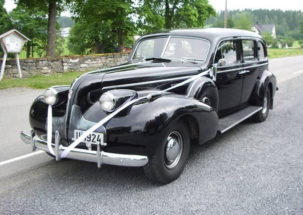 1939 Buick for bryllupskjøring