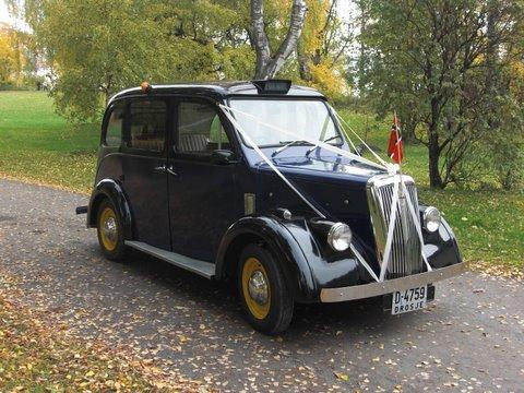 1959 London-Taxi, Beardmore Black Cab for bryllupskjøring