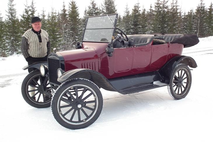 1922 Ford Touring for bryllupskjøring